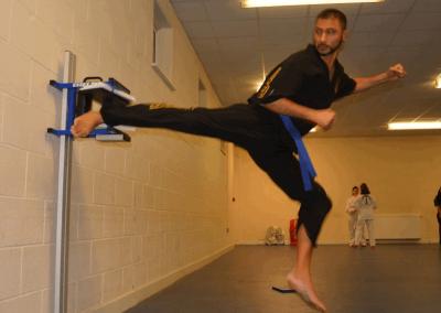 Jumping side kick break by Hardip Sidhu