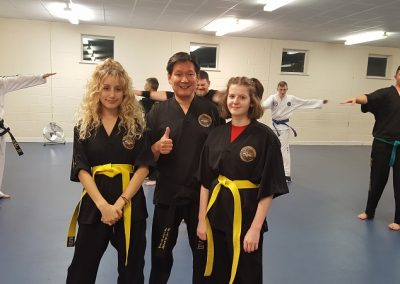 Their first colour belt. (not white)