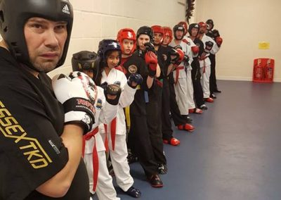 Students Sparring.