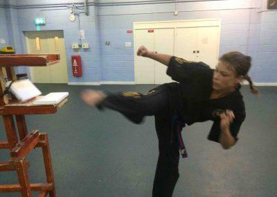 Maria side kick break